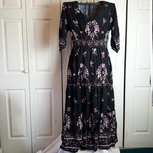 City Chic Peacock Love Maxi Dress Size 16W
